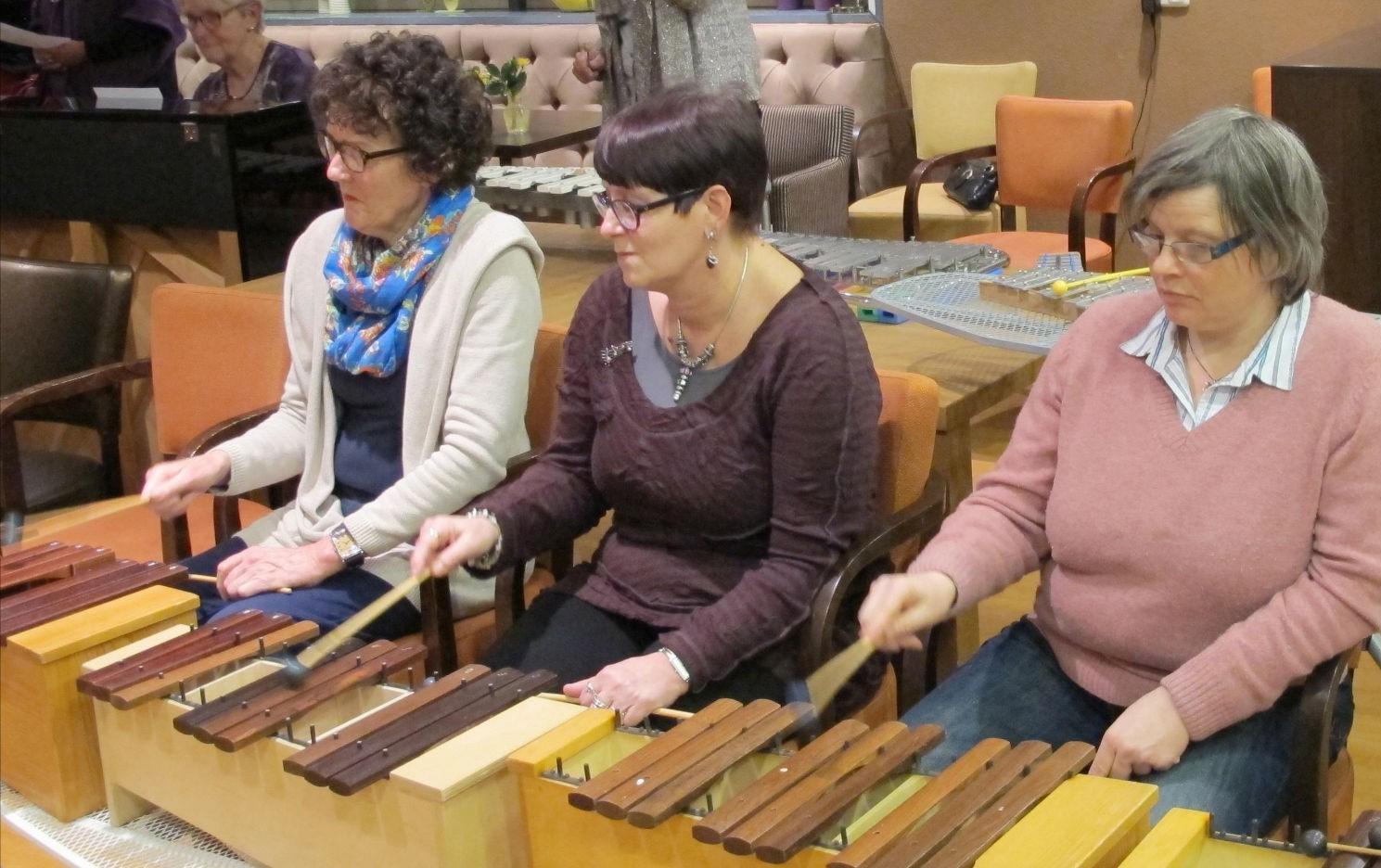 Akkoordbegeleiding op xylofoons